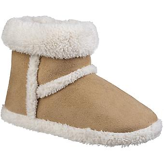 Divaz Womens Greenland Plush Comfy Fluffy Bootie Slippers