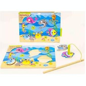 2-Play fishing game wood 30x22, 5 cm