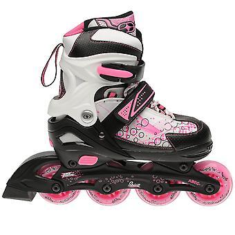 Keine Angst Kinder Mädchen Geist Inline Skates Schuhe Roller dreifache Verschluss Haken und Schleife