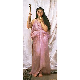 Young Priestess, Adolphe William Bouguereau, 80x40cm