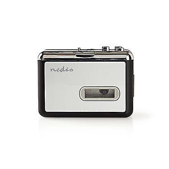 Nedis ACGRU100GY Draagbare Usb-convertor Voor Cassette Naar Mp3 Met Usb-kabel En Software