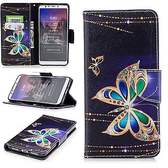 Für Huawei P Smart 2019 / Honor 10 Lite Kunstleder Tasche Wallet Motiv 32 Schutz Hülle Case Cover Etui Neu