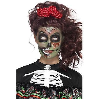 Dzień zmarłych Zombie Make-Up Kit, MULTI