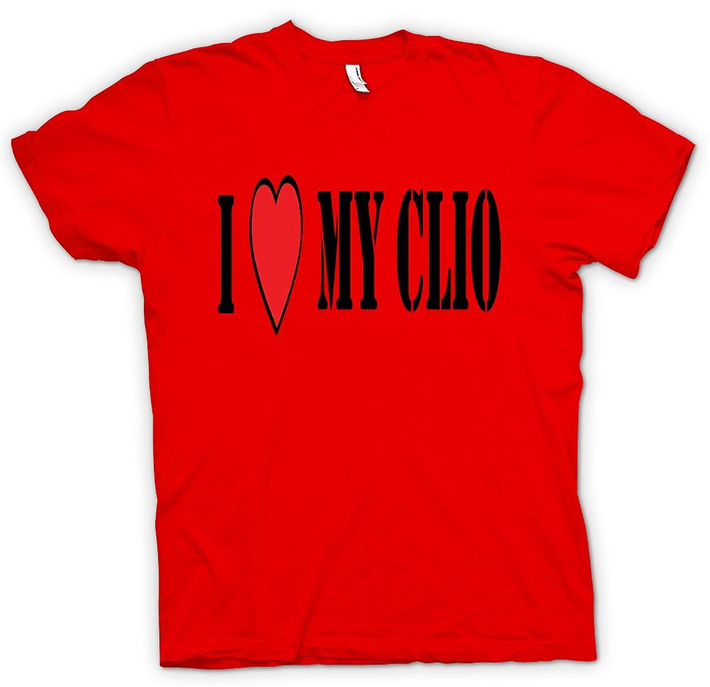 Mens T-shirt - I Love My Clio - Fun Car
