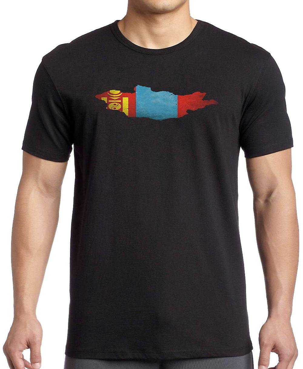 Mongolia Flag Map Kids T Shirt