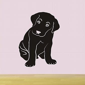 Labrador puppy dog wall art sticker