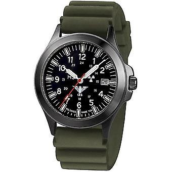 KHS Montres mens montre chronographe de titane noir peloton KHS. BPTC. FAIRE