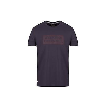 Weekend Offender Groves T-shirt In Steel