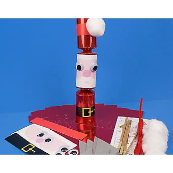 8 Standy Uppy Santa Make Your Own Christmas Crackers Kit