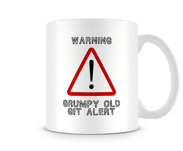 Warning Sign Grumpy Old Git Alert Mug