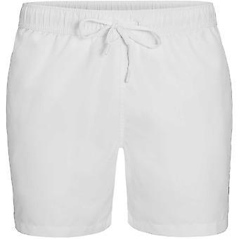 ビョルン ・ ボルグのロゴ テープ水泳用ショート パンツ、鮮やかな白