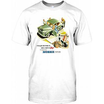 Morris Minor - Small Car Big - Retro Classic Car Poster Mens T Shirt