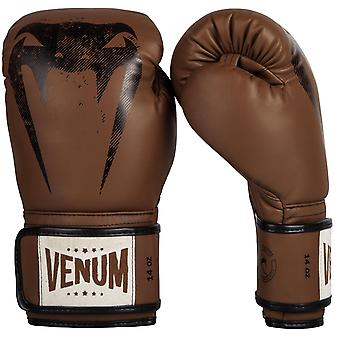 Venum Giant Hook and Loop Sparring formation gants de boxe - brun/noir