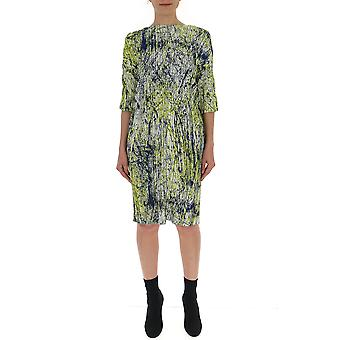 Issey Miyake Multicolor Polyester Dress