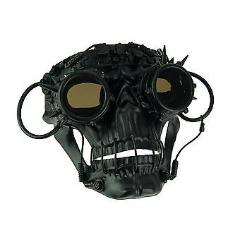 Steamskully noir effrayant dopés masque Costume Steampunk crâne