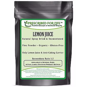 Lemon Juice Powder - Spray Dried & Unsweetened Lemon Juice - Reconstitute Ratio 1:2 - ING: Organic Powder
