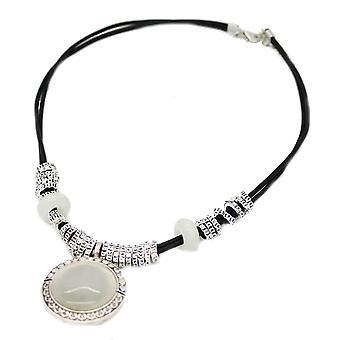 Dame krystalkugle vedhæng chunky stil erklæring chunky halskæde
