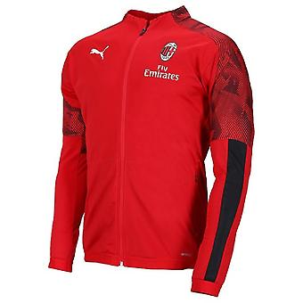 2019-2020 AC Milan Puma Poly Jacket (Red) - Kids