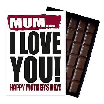 Funny Mother's Day Gift Boxed Chocolate Present Rude Greeting Card For Mom Mum Mumy MIYF107