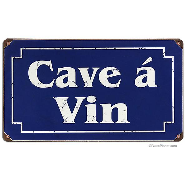 Cave A Vin rusted metal sign  360mm x 200mm    (pst 148)