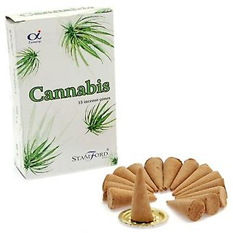 Cannabis Incense Cones Stamford 15 Box