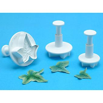 Plunger Cutter Set 3 Pieces Veined Ivy Leaf Il540
