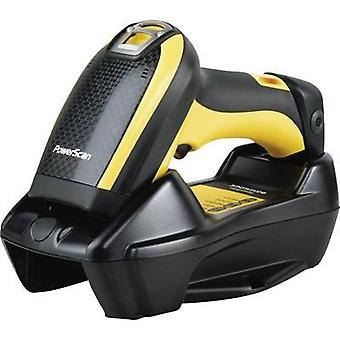 2D wireless barcode scanner DataLogic PowerScan PM9500 Imager Yellow, Black Hand-held USB