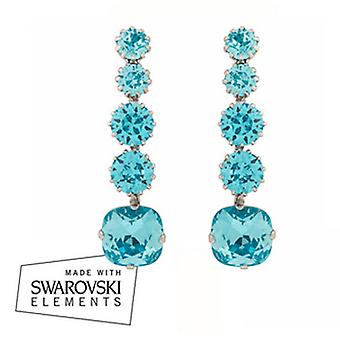 Martine Wester Light Turquoise Blue Drop Earrings