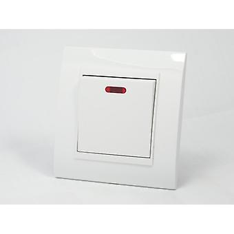 I LumoS AS Luxury White Plastic Arc  Single Switched 45A Cooker Switch