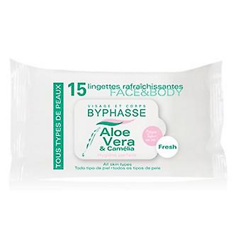 Byphasse Refreshing towelettes 15U 2X1 (Cosmetics , Facial , Facial cleansers)
