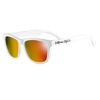 California Style Co Venice Beach Sunglasses Orange Frame White