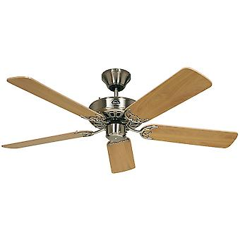 Ceiling fan Classic ROYAL Chrome brushed with pull cord 75 cm to 180 cm / 30