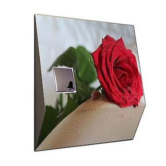 Doorbell stainless steel rose - funny phone ring with a separate receiver