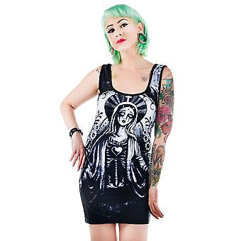 Too Fast Womens Black Zombie Mary Dress Undead Bodycon Sleeveless Scoop