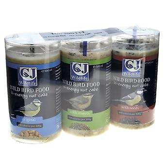 Cj Hi Energy Nut Cake Triple Pack 500ml (Pack of 6)