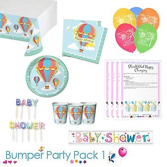 Up Up and Away Baby douche partij tafelgerei Bumper Pack 1
