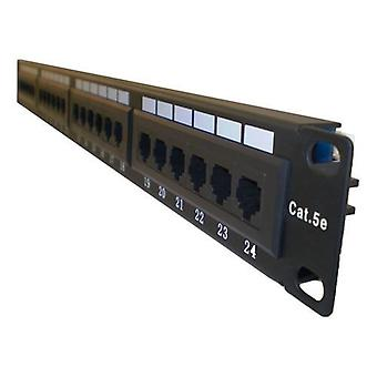 LMS DATA 1U 19 Inch Wide 24 Port UTP Cat 5E Patch Panel Black (PPAN-24-LC2)