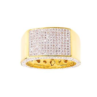 Iced out bling micro pave ring - KINGS gold