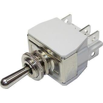 Toggle switch 250 Vac 6 A 2 x On/Off/On APEM 6-649H/2 / 6491074 latch/0/latch 1 pc(s)