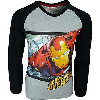 Boys Marvel Avengers Long Sleeve T-Shirt / Top PH1276