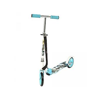 Trottinette patinette scooter enfant pliable bleu 0108012