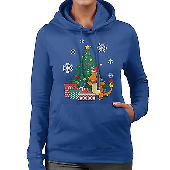Pokemon Charmander Christmas Tree Women's Hooded Sweatshirt