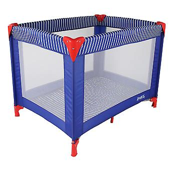 Redkite Sleeptight Travel Cot Blue Ships Ahoy