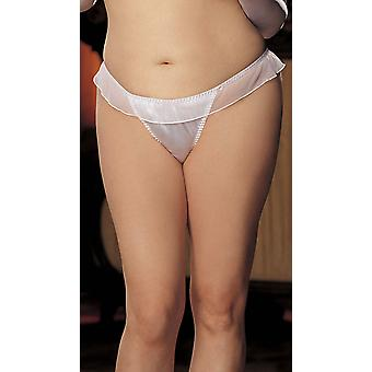 Shirley of Hollywood DS - IA-X 20 Charmeuse og mesh store bue thong