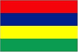Mauritius Flag 5ft x 3ft With Eyelets For Hanging