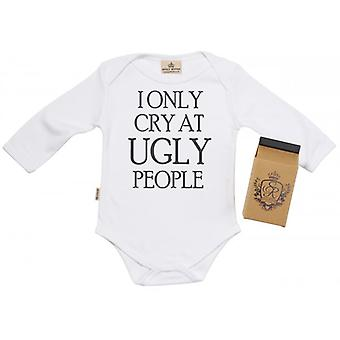 Spoilt Rotten Only Cry At UGLY People Babygrow 100% Organic Cotton