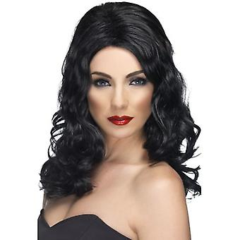 Smiffys Glamorous Wig Black Long And Wavy (Costumes)