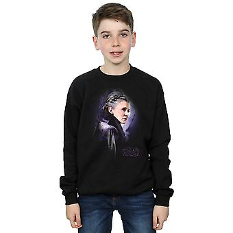 Star Wars Boys The Last Jedi Leia Brushed Sweatshirt