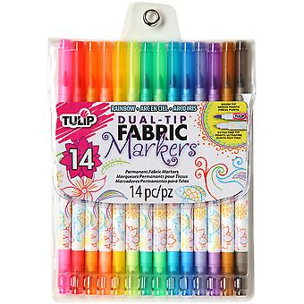 Tulip Dual Tip Fabric Marker Set 14pc-Assorted Colors 31960
