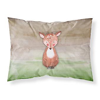 Taie d'oreiller Standard de bébé cerf aquarelle tissu